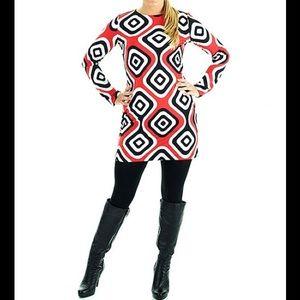 ❤️  Red & Black Joker Shelby Mod Shift Dress ❤️